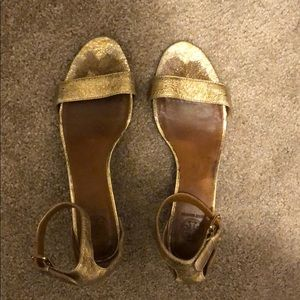 Tory Burch Gold Wedge